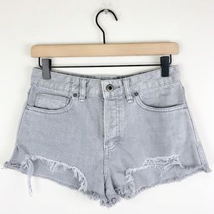 Free People High Rise Denim Shorts